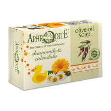Aphrodite Olive oil soap with Chamomile & Calendula for Babies & Kids (APH-Z-80)