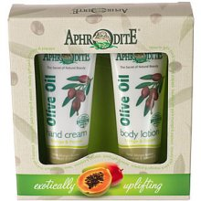 Aphrodite Hand Cream & Body Lotion Gift Set - Mango / Papaya