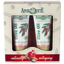 Aphrodite Hand Cream & Body Lotion Gift Set - Pomegranate