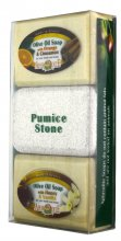 Olive Oil Soap & Pumice Stone Gift Set - fragrant Orange & Cinnamon / Honey & Vanilla