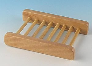 Wood Dowel Soap Dish