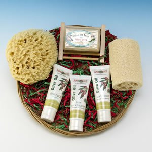 Holiday Bath & Shower Gift Flat Basket