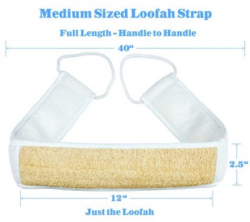Medium Sized Loofah Back Scrubber and Shower Strap