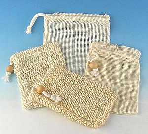 Drawstring Soap Pouches